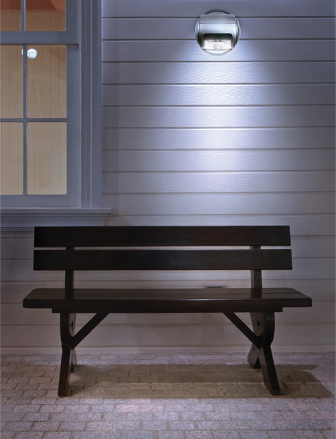 Black Series Wireless LED Porch Light Contemporary