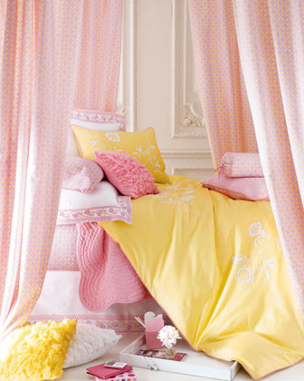 Serena & Lily Isabel Bed Linens Queen Floral-Border Dust Skirt traditional-bedskirts