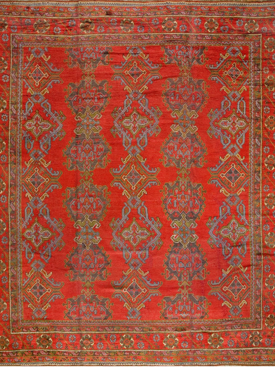 "Antique Turkish Oushak Carpets - #678 antique Turkish Oushak carpet 12'1"" x 13'9"""
