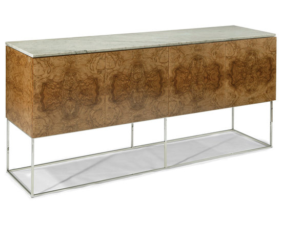 Design Classic Buffet with Marble Top by Milo Baughman from Thayer Coggin -