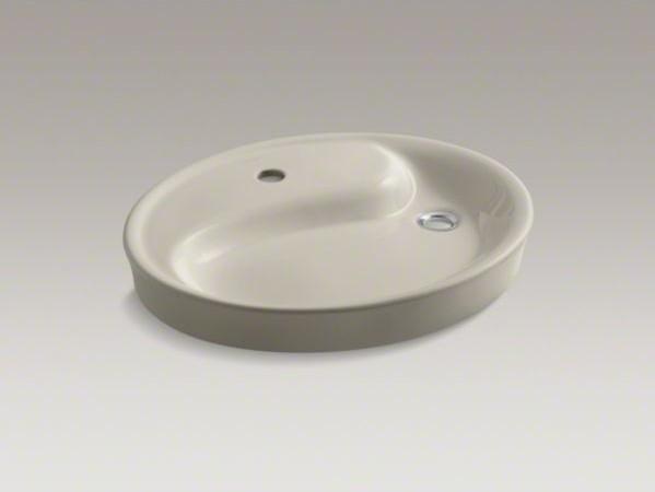KOHLER Yin Yang(R) Wading Pool(R) drop-in bathroom sink with single faucet hole contemporary-bathroom-sinks