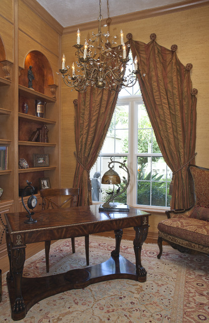 Arched Draperies traditional-window-treatments