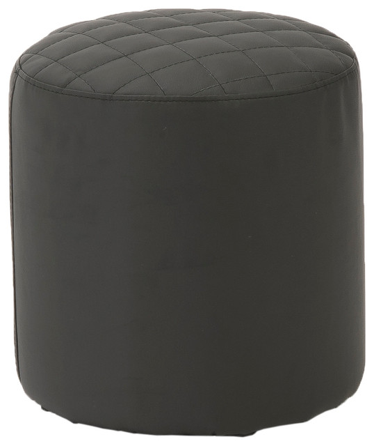 Chen Quilted Stool-Black contemporary-footstools-and-ottomans