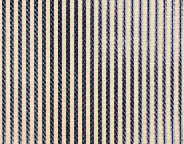 Shams Pair Ticking Stripe Indigo Blue traditional-shams
