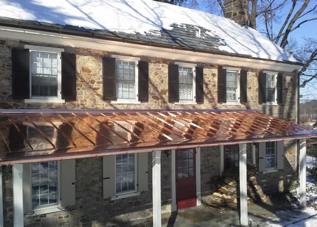 Copper Standing Seam Porch Roof