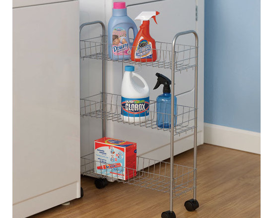 Household Essentials 7011 3-Tier Laundry Storage Cart -