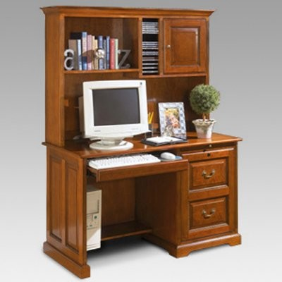 Riverside 50 Inch Desk And Hutch In Meridian Cherry