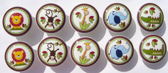 Jungle Time Dresser Drawer Knobs by Patrina's Palace of Knobs contemporary-kids-decor
