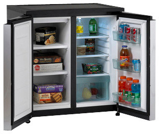 Side By Side Compact Refrigerator Freezer Traditional