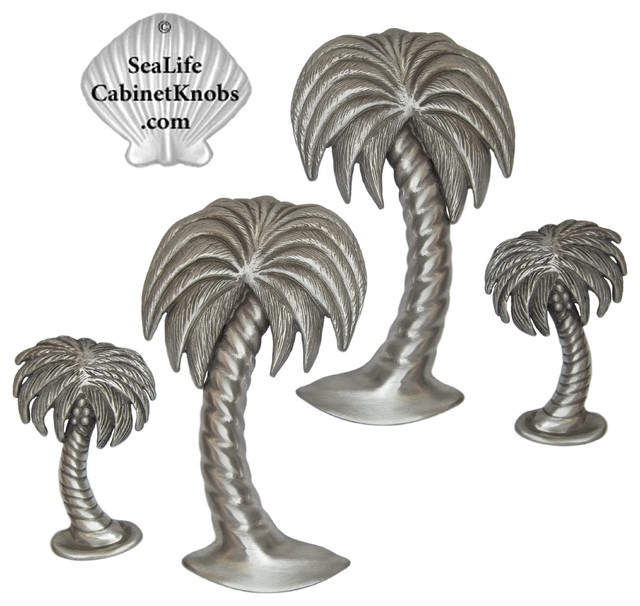 Palm Tree Cabinet Pulls Beach Style Kitchen Cabinetry