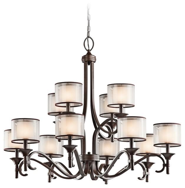 "Kichler Lacey 42"" Wide Mission Bronze Chandelier contemporary-chandeliers"