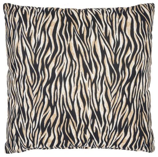 Zebra Two2-Inch Ivory and Black Decorative Pillows -Set of Two modern-decorative-pillows