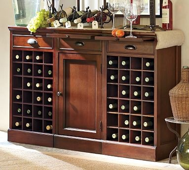 Modular Bar Buffet Mahogany Traditional Buffets And Sideboards By Pottery Barn