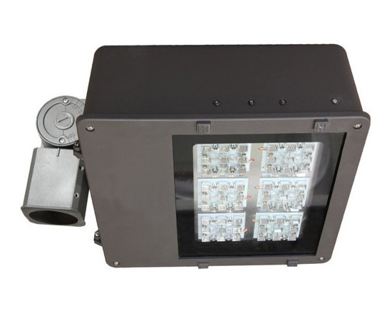 "MaxLite - MLFL140LED50-BorW MaxLite LED MaxLED Flood Light, 140 Watts - An efficient, energy saving replacement for metal halide and high-pressure sodium flood lights, this fixture can be easily installed with a 2-3/8"" slip fitter knuckle, which is included."