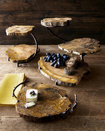 Petrified Wood Serving Pieces traditional-platters