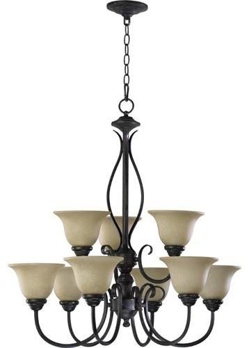Spencer Nine-Light Toasted Sienna Chandelier modern-chandeliers