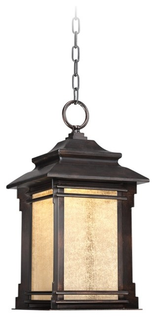 Outdoor Lighting Fixtures Arts And Crafts Arts And Crafts Mission Hickory Point 17 3 4 High Hanging Outdoor LED