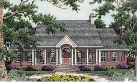 House Plan 406-101 traditional-exterior-elevation