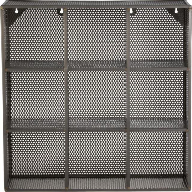 sift raw wall shelf baskets
