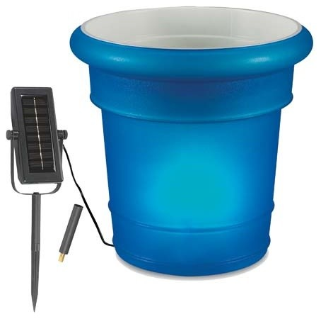 Resin Solar Powered Planter/Ice Bucket - Contemporary - Indoor Pots And Planters - by Fifthroom.com