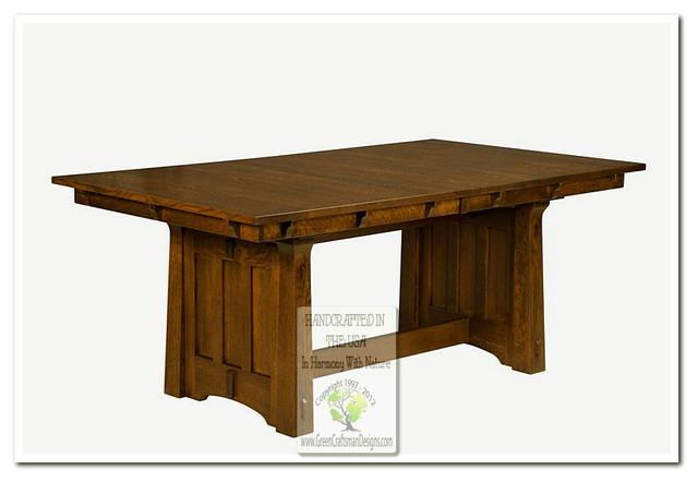 mission dining tables craftsman dining tables chicago by green craftsman designs inc. Black Bedroom Furniture Sets. Home Design Ideas