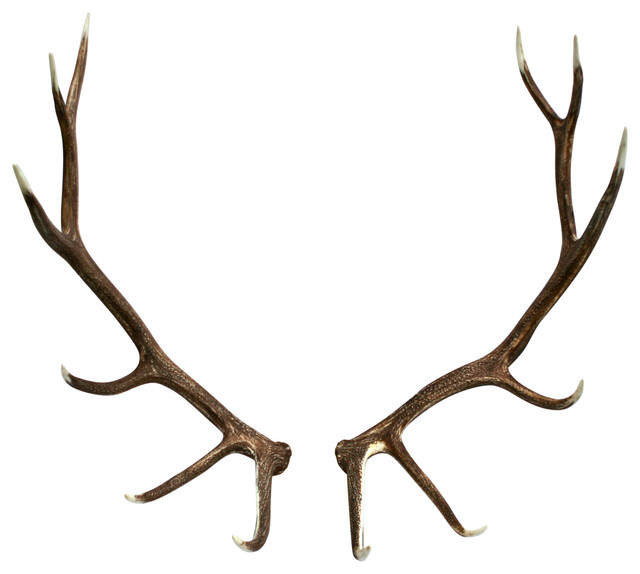 Faux elk antler set right and left rustic home decor by muskoka