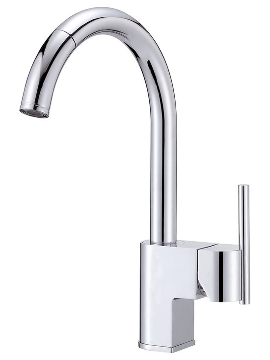 """Danze Como™ Single Handle Pull-Down Kitchen Faucet - - 14 ¾"""" high swivel spout, 9"""" spout length, perfect for kitchen sinks with plenty of open space above."""