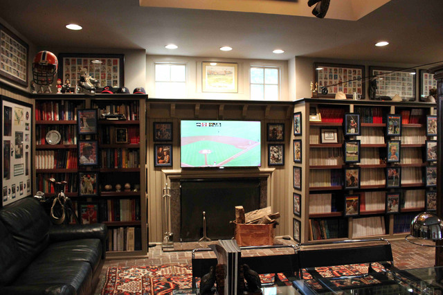 Office for Sports Enthusiast eclectic-home-office