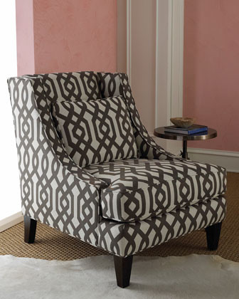 Massoud - Gray Graphic Chair - Modern - Armchairs And ...