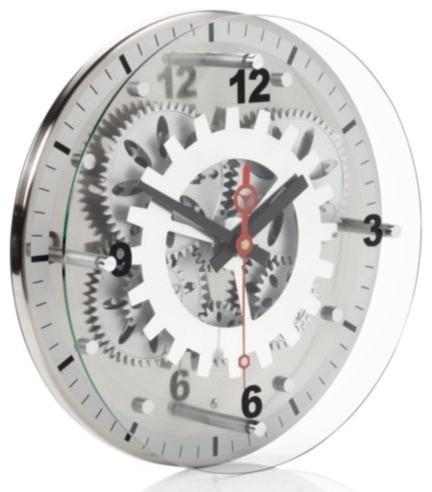 Moving Gear Wall Clock Contemporary Wall Clocks By Z
