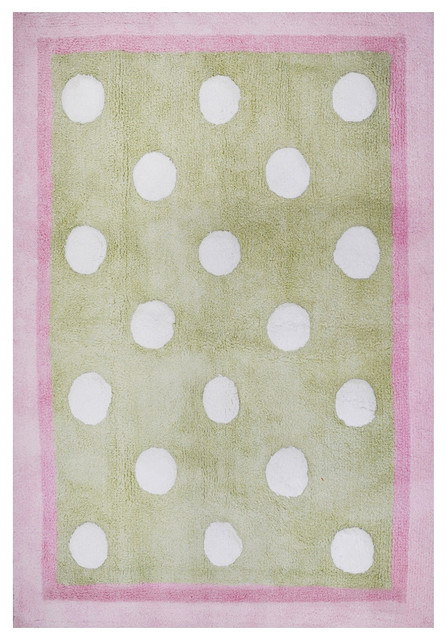 Pixie Baby Rug In Pink And Green Modern Rugs By Rosenberry Rooms