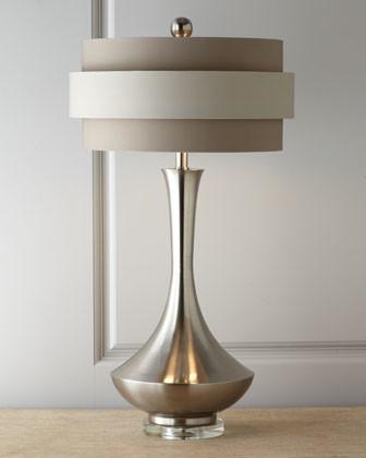 John-Richard Collection Neutral Orbit-Shade Table Lamp traditional-lamp-shades