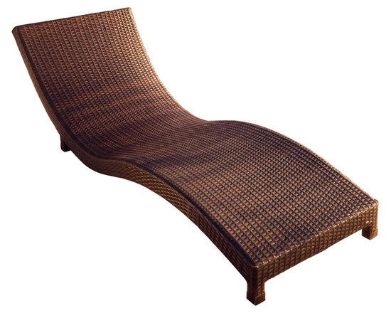 Great Deal Furniture - Grecian Wicker Outdoor Lounge Chair - Relax poolside with the Grecian Chaise Lounge Chair. Built from brown smooth wicker, this sturdy lounge is built low to the grown and its curved structure contours the body for comfortable support. This piece is neutral to fit with most outdoor furniture, yet sleek enough to stand on its own.