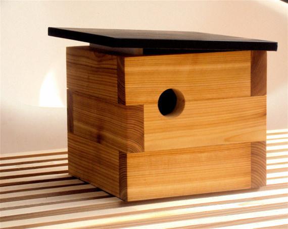 MId Century Modern Birdhouse by Nathan Danials modern-birdhouses