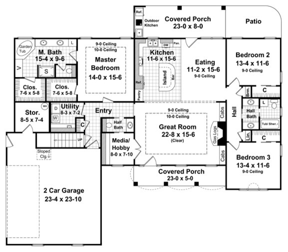 Houzz home design decorating and renovation ideas and for Floor plans los angeles