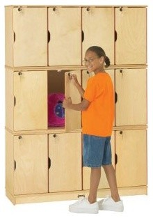 Jonti-Craft Stacking Lockable Lockers - 12 Sections - Triple Stack modern-kids-toys-and-games