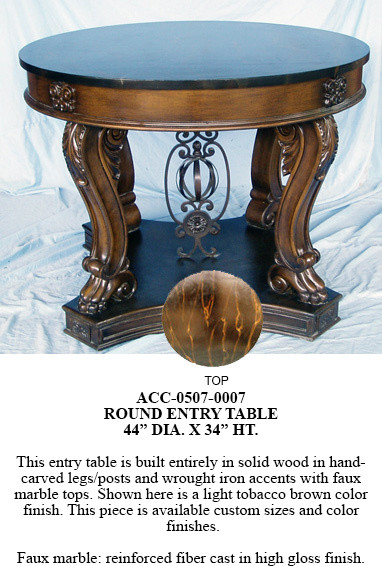 ACC-0507-0007 Round Entry Table traditional-side-tables-and-end-tables
