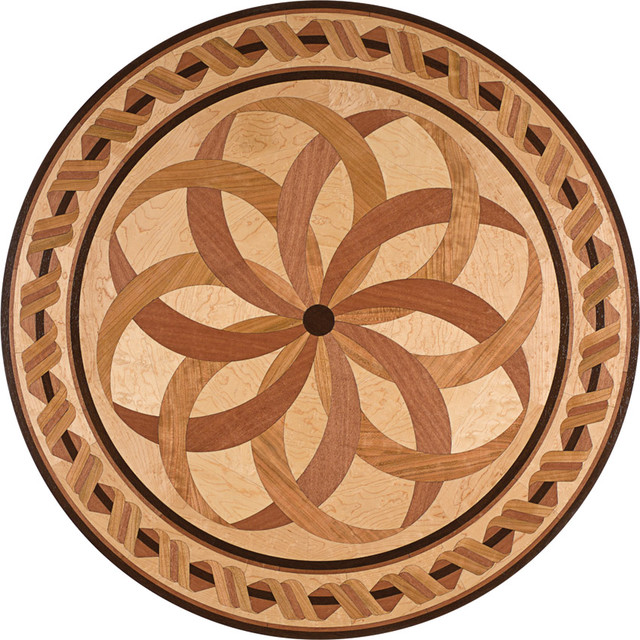 Oshkosh designs estancia inlay medallion contemporary for Wood floor medallion designs