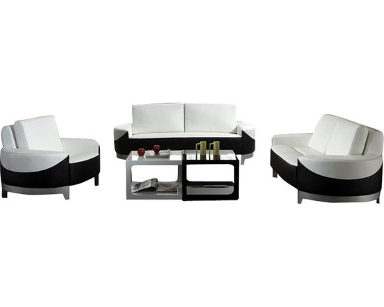Scene Furniture - Contemporary York Sofas - These unique and very contemporary sofas display an elegant two-tone color combination that immediately beautifies any room.