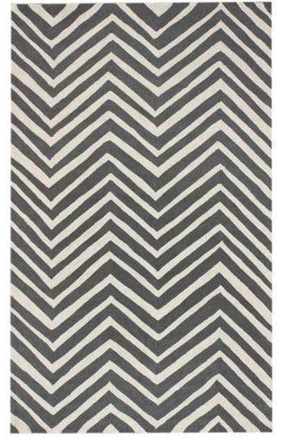 Homespun Chevron Charcoal Rug contemporary-rugs