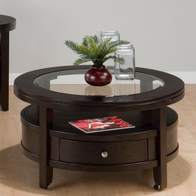 Jofran Marlon Wenge Cocktail Table - Round modern-coffee-tables