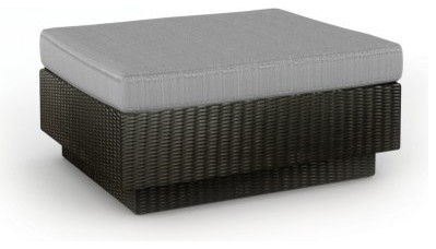 Sonax All Weather Wicker Textured Black Ottoman modern-patio-furniture-and-outdoor-furniture