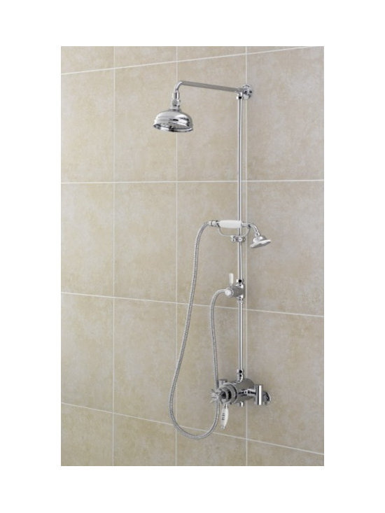 Sagittarius Chrurchmans Exposed Shower Valve with Rigid Riser Kit and Diverter - Sagittarius Chrurchmans Exposed Shower Valve with Rigid Riser Kit and Diverter. This dual control thermostatic shower valve with rigid riser kit creates a beautiful bath profile that complements traditional decors.