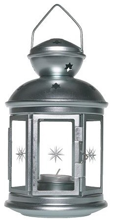 Rotera Lantern for tealight, galvanized candles-and-candle-holders