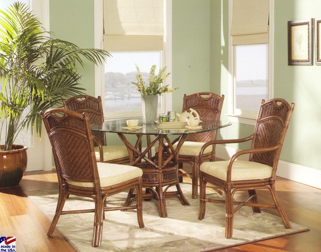 rattan and wicker dining sets beach style dining sets