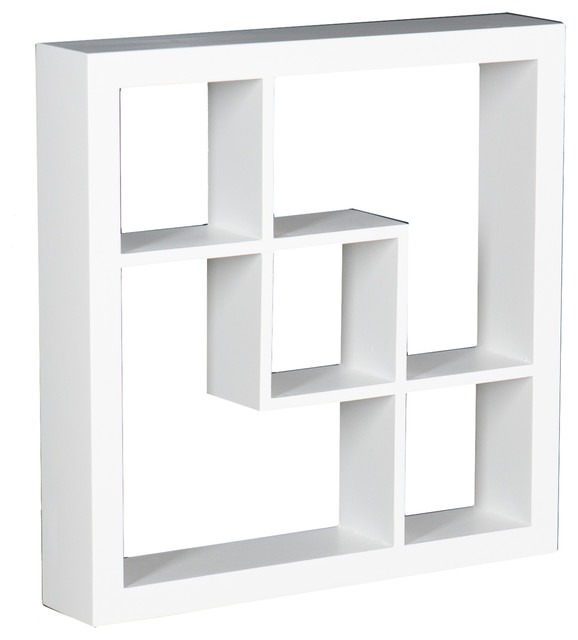 Arianna Display Shelf White Contemporary Display And Wall Shelves