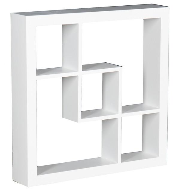 Arianna Display Shelf, White contemporary-wall-shelves