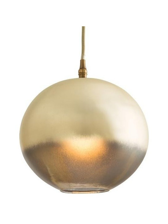 Arteriors Lilly Pendant - This one light leopard silveria glass sphere pendant has a beautiful candle-like golden glow when lit. A unique and beautiful example of ombre coloration. Canopy Dimension H: 1.5 Canopy Dimension Dia: 5.75