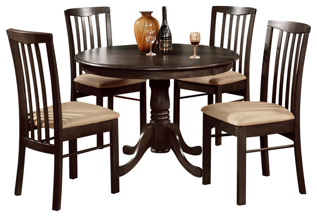 5 Pc Kitchen Table Set Table Round Table And 4 Dining