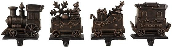 train stocking holders set of 4 traditional. Black Bedroom Furniture Sets. Home Design Ideas
